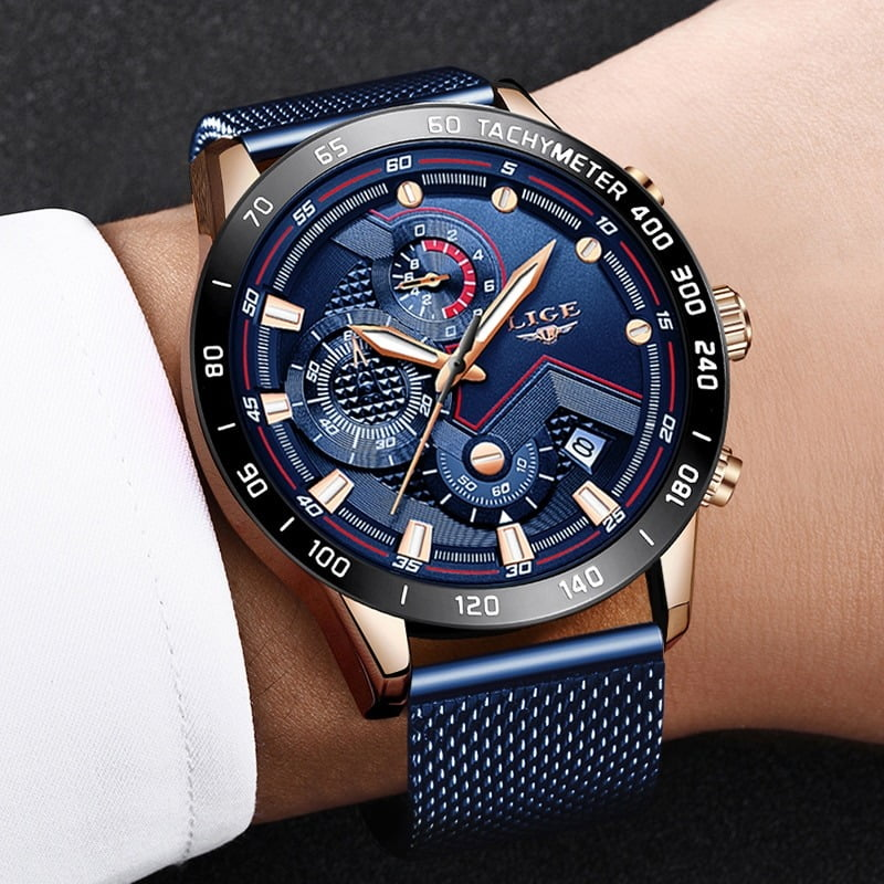 Lige Quartz Gold Watch Mens Watches  3