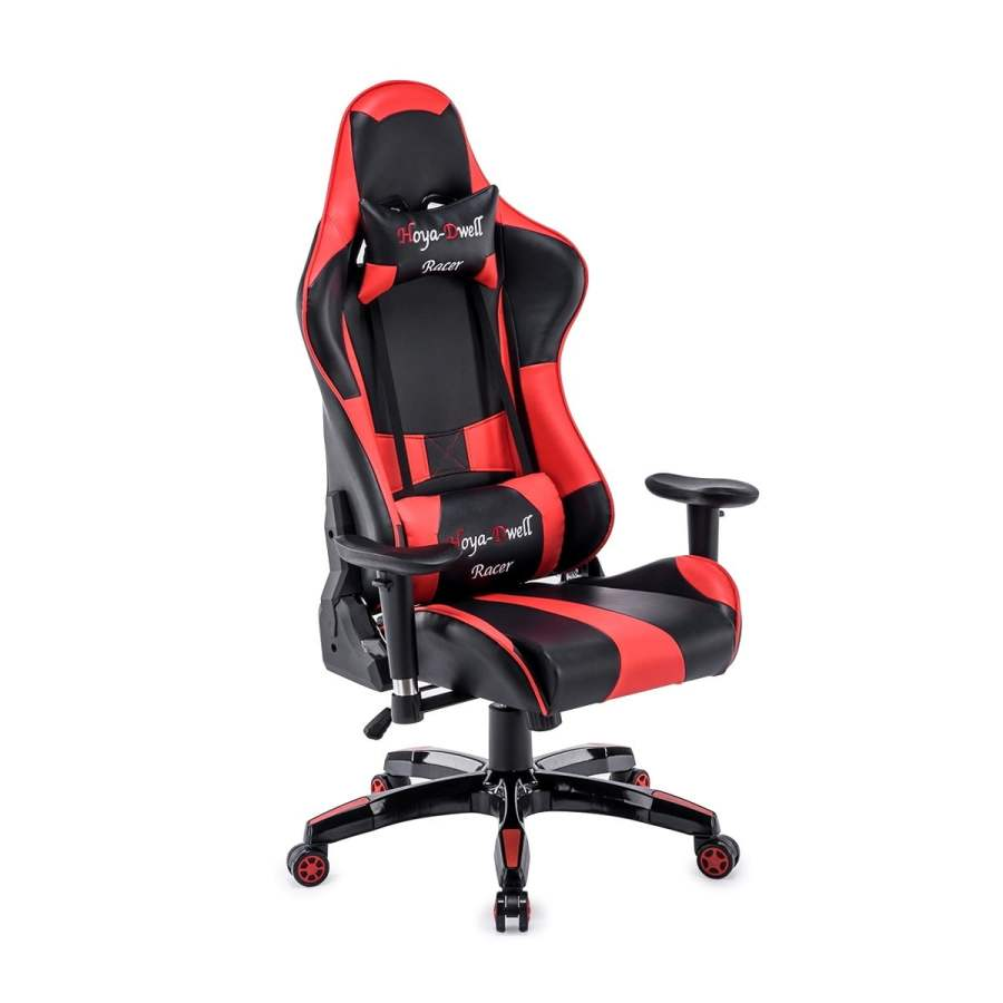High Back Racing themed Reclining Ergonomic Adjustable Chair with Headrest 47