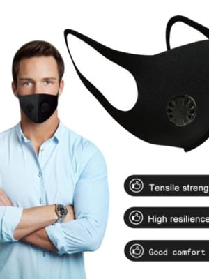 Washable Mouth Face Mask With Filter Carbon Respirator