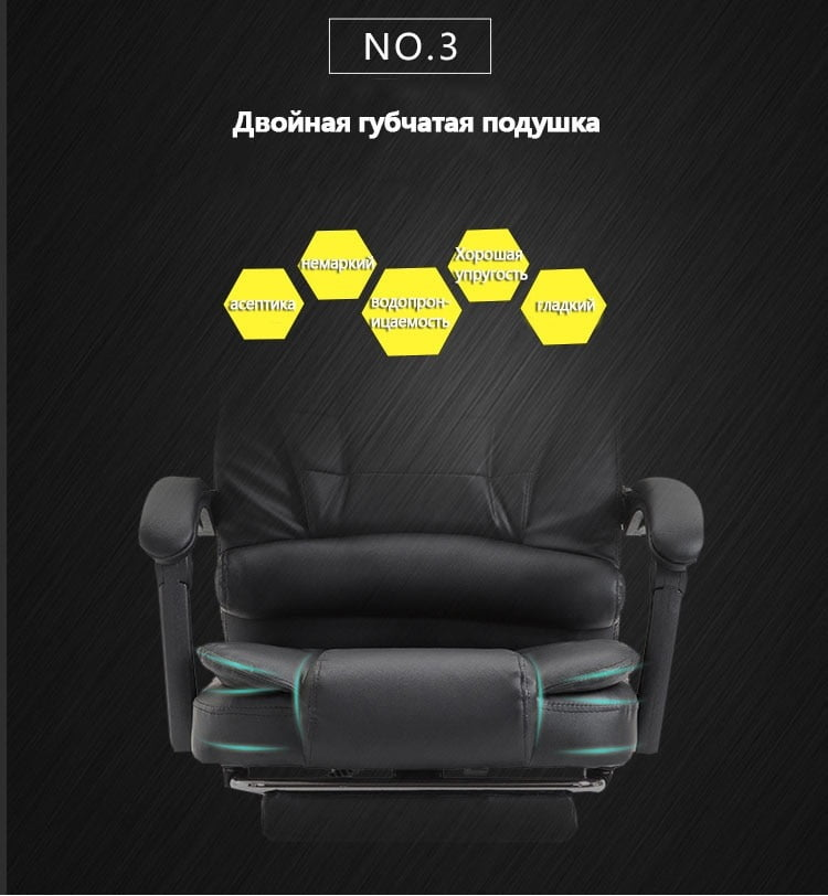 High Quality Leather Ergonomic Gaming Chair With USB 20