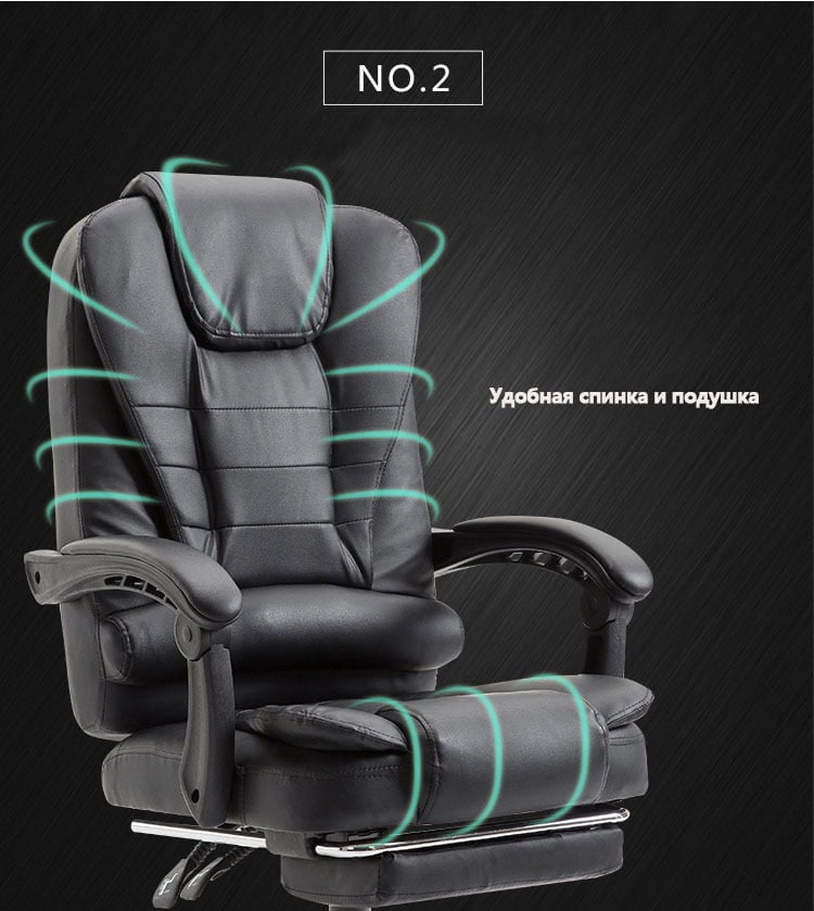 High Quality Leather Ergonomic Gaming Chair With USB 19