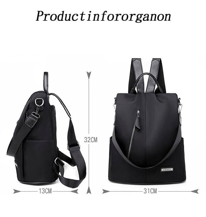 Women Anti-Theft Waterproof Fabric Backpack 3