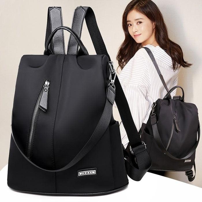 Women Anti-Theft Waterproof Fabric Backpack 1