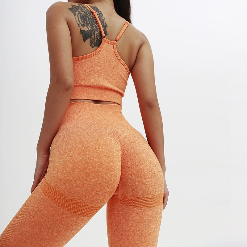 Royles! Women 2 Piece Workout Outfits Sports Bra Seamless Leggings Yoga Gym Activewear Set 4