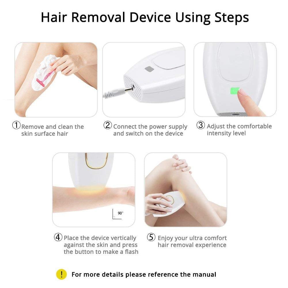 Home Hold Depilatory Laser Mini Hair Epilator Permanent Hair Removal IPL System 500000 Shot Light Pulses Whole Body Hair Remover 12
