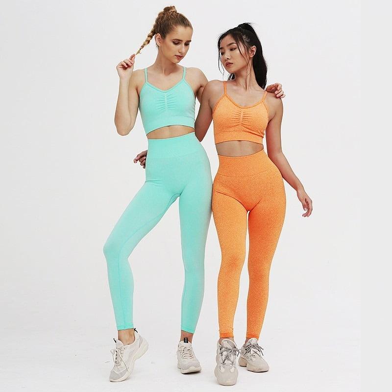 Royles! Women 2 Piece Workout Outfits Sports Bra Seamless Leggings Yoga Gym Activewear Set 5