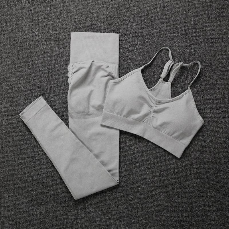 Royles! Women 2 Piece Workout Outfits Sports Bra Seamless Leggings Yoga Gym Activewear Set 32