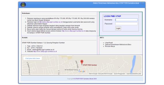 Sistem Informasi Penerimaan Mahasiswa Baru Berbasis Web yang Terintegrasi Dengan Bank dan SMS Gateway