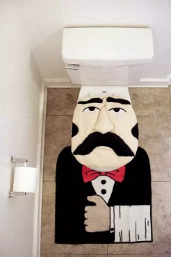 Collection of bizarre bathroom urinals and toilets