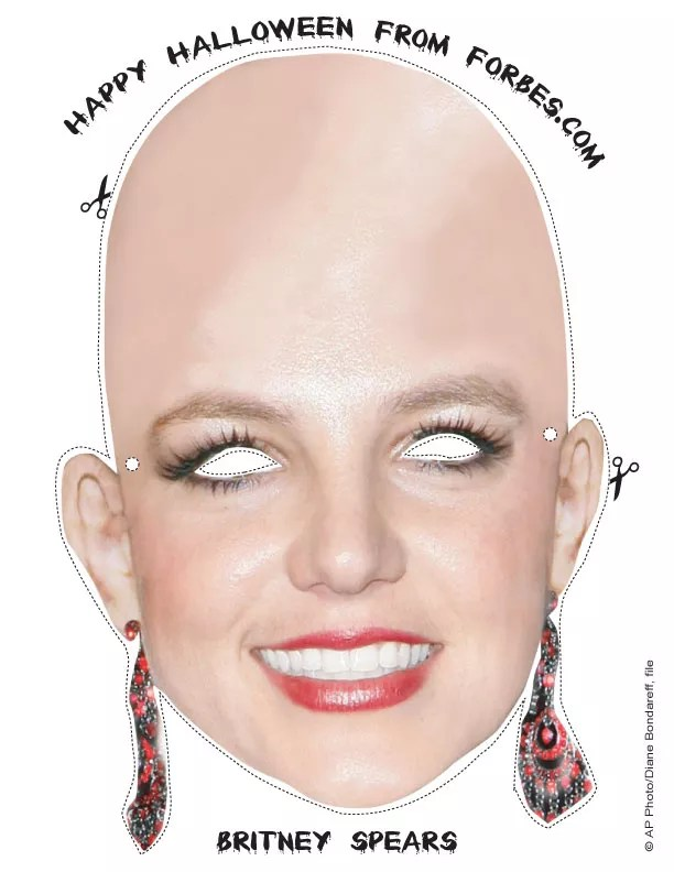 scary masks britney spears