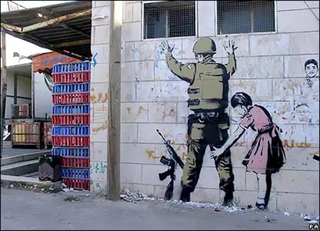 Banksy returns to Bethlehem