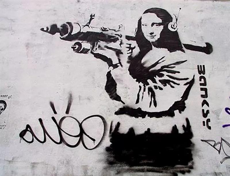 Mona Lisa in Contemporary Urban Street Art