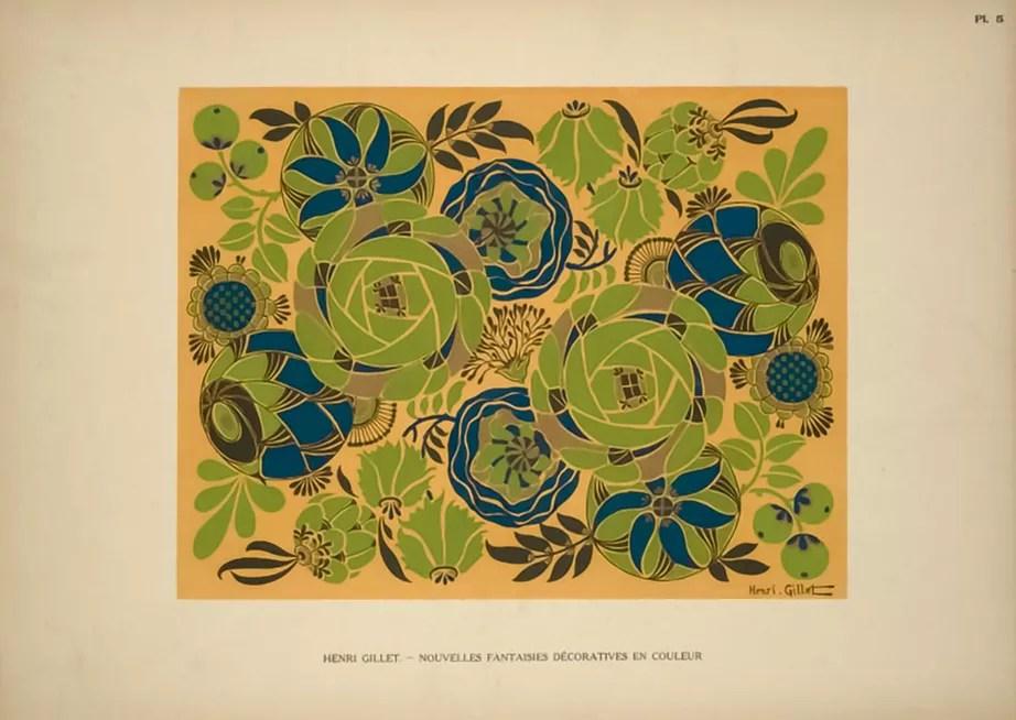 Plate 5  |  Floral  |  Henri Gillet  c.1900