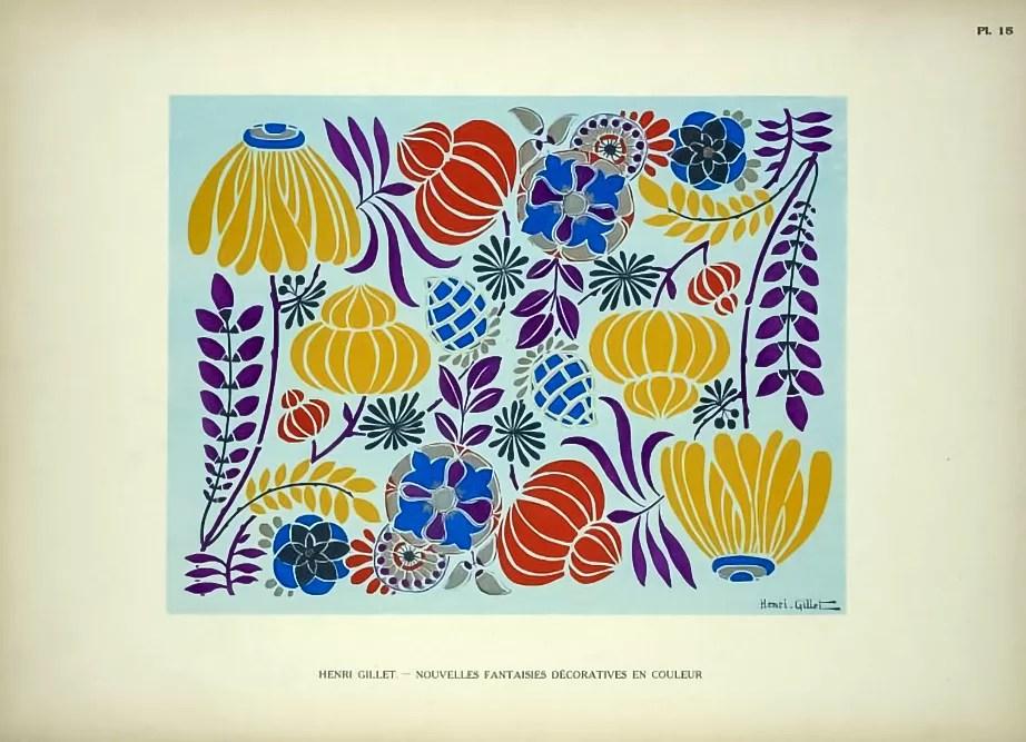 Plate 15  |  Floral  |  Henri Gillet  c.1900