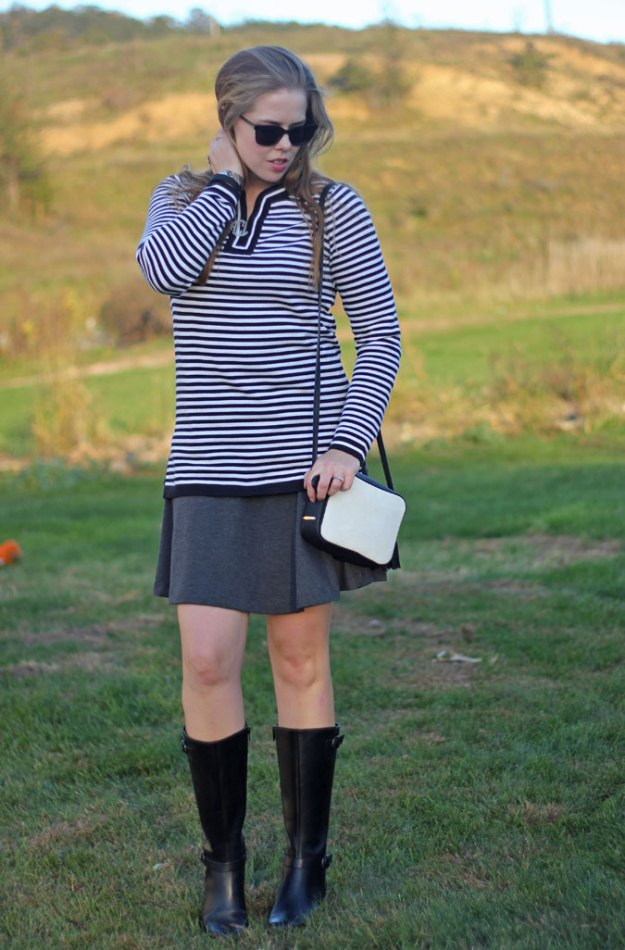 black-striped-sweater-grey-skirt-3