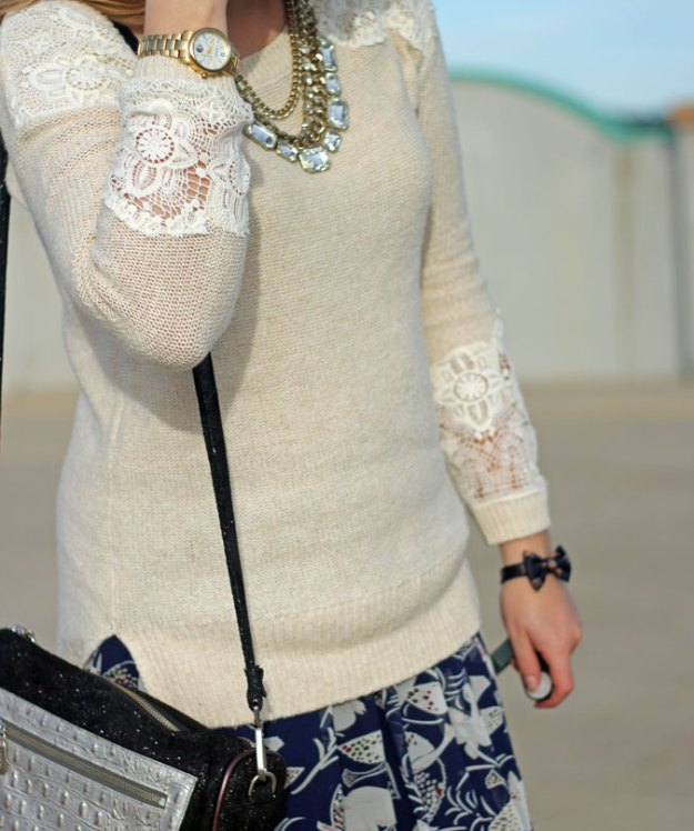 tan-with-lace-accents-sweater-blue-bird-skirt
