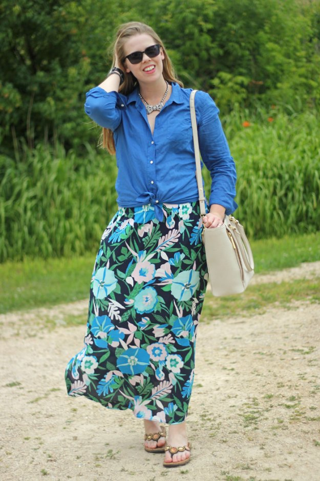 floral-maxi-skirt-lilly-pulitzer-camp-shirt-loren-hope-bow-necklace