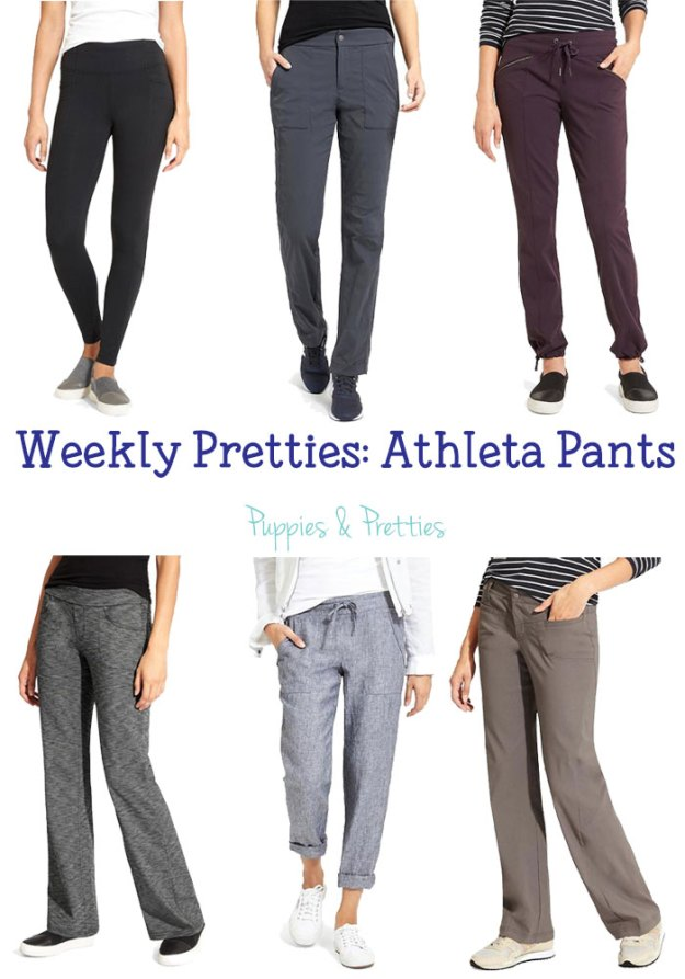 Weekly Pretties: Athleta Pants | great casual pants and legging options from Athleta that you can even dress up for work | Puppies & Pretties