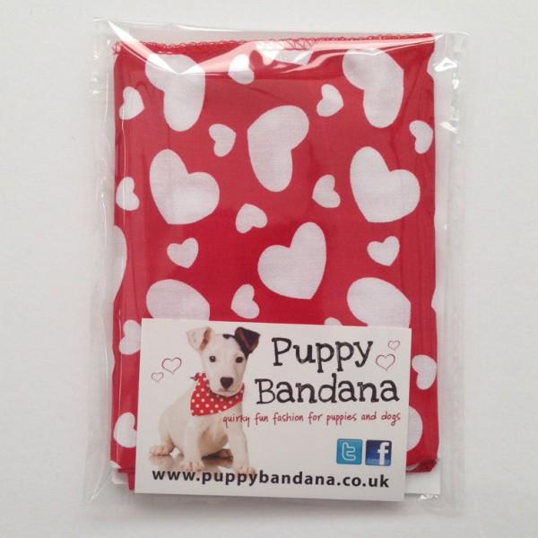Valentines Day Dog Bandana Hearts Dog Bandana