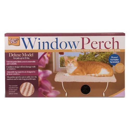 Lazy cat deluxe cat window perch image, cat gift ideas