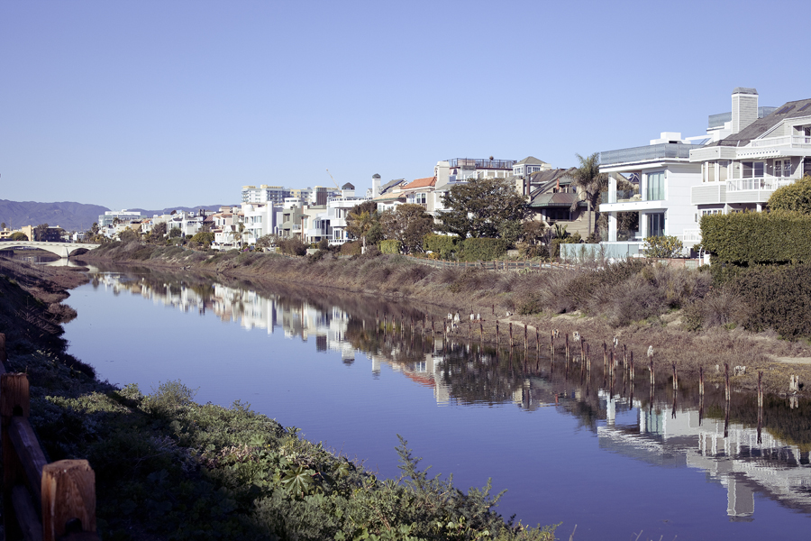 Balloona Creek in Marina Del Rey.