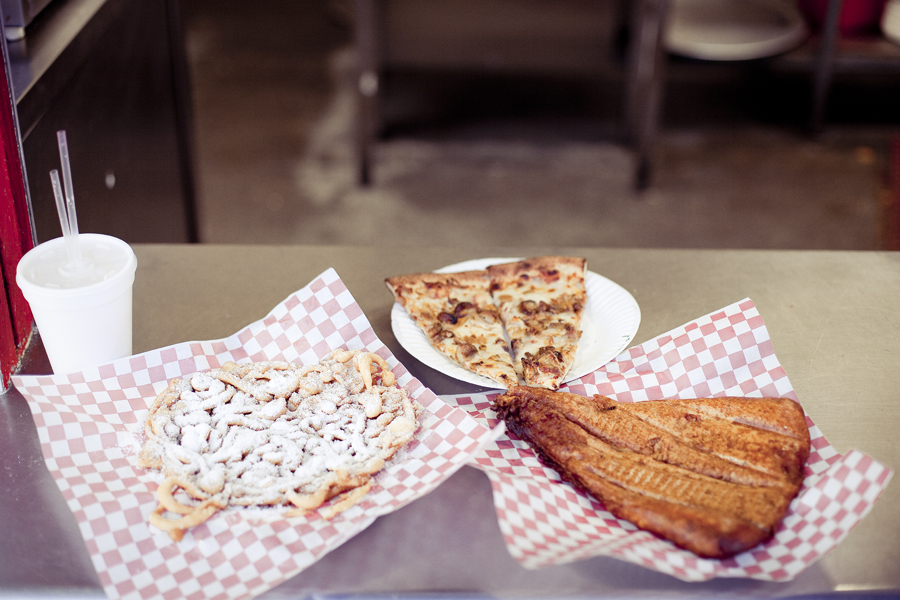 Pizza and Funnel Cake from Venice Beach.