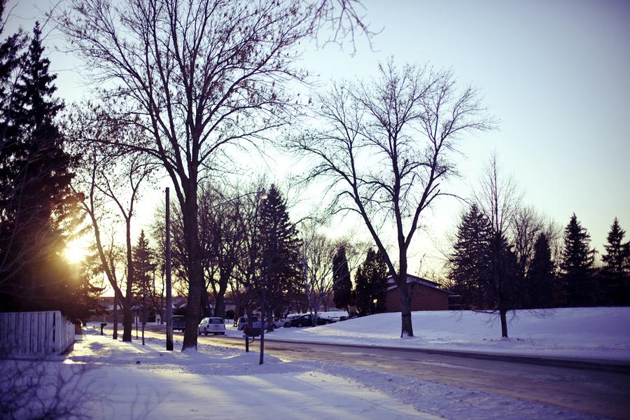 Winter scene in Minnesota.