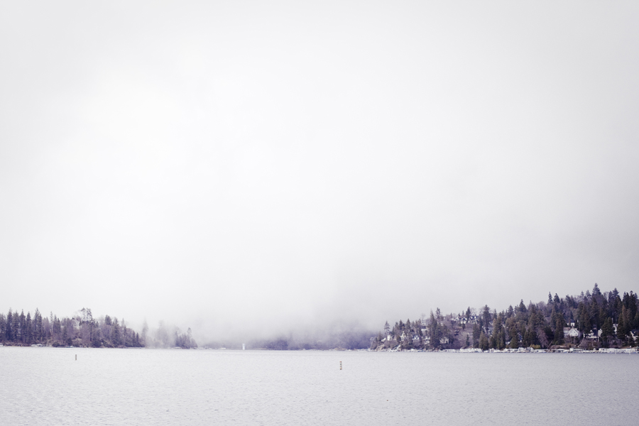 Fog over Lake Arrowhead.