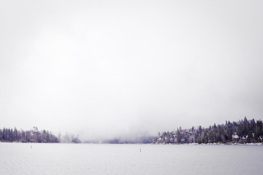 Fog over Lake Arrowhead.
