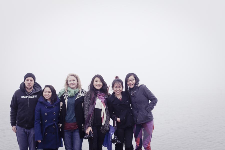 Group photo before the fog at Lake Arrowhead.
