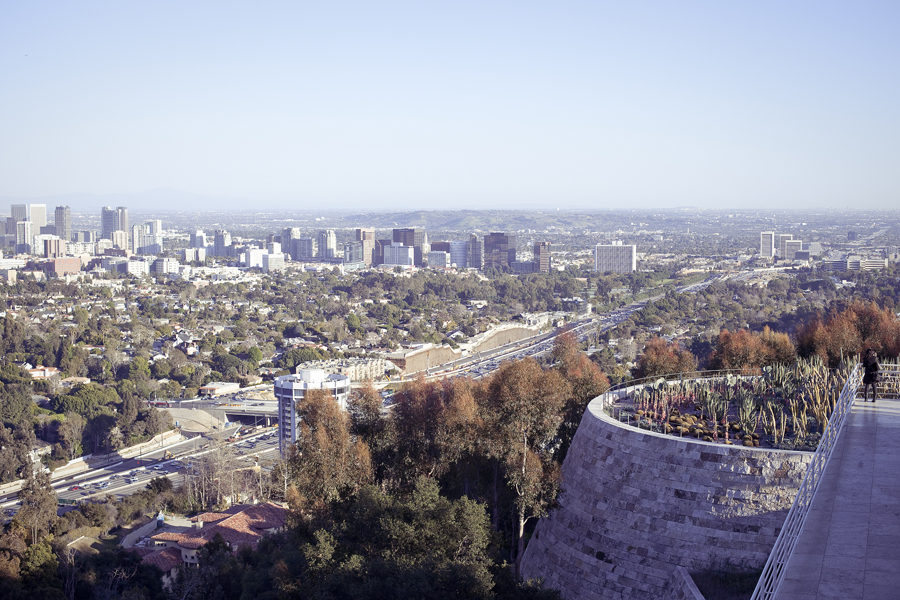 View from the Getty Center in Los Angeles, California.