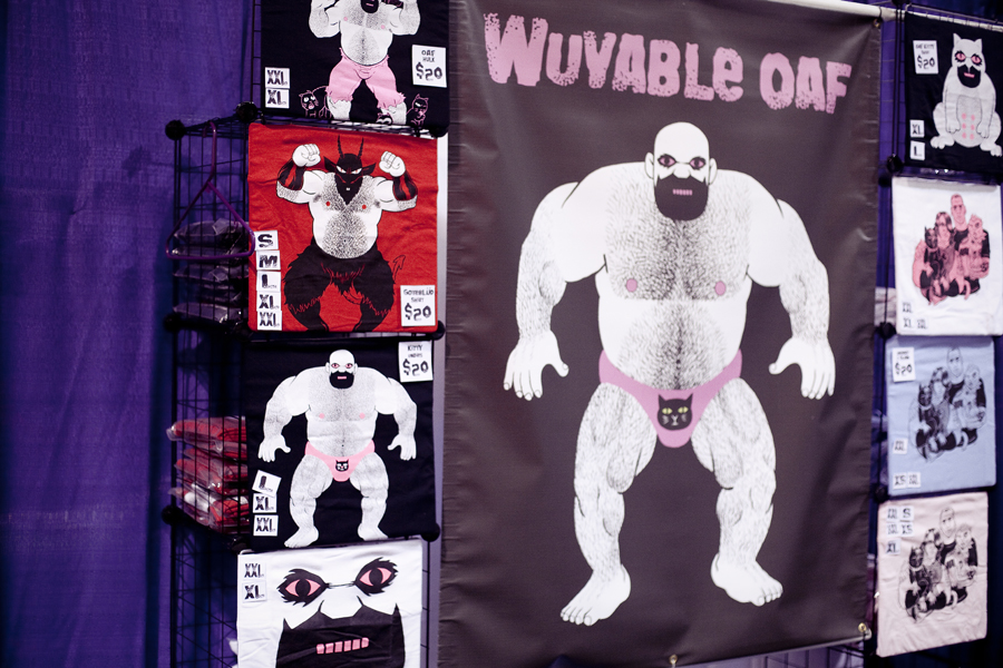 Wuvable Oaf character at Wondercon 2013.