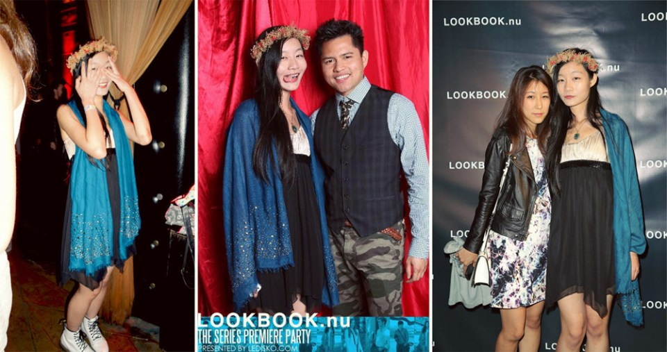 Photos of me and people I met at the Lookbook series launch party.