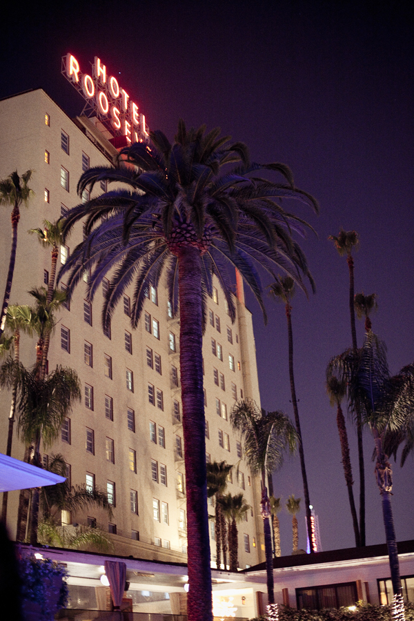 Hotel Roosevelt in Hollywood, Los Angeles, California.