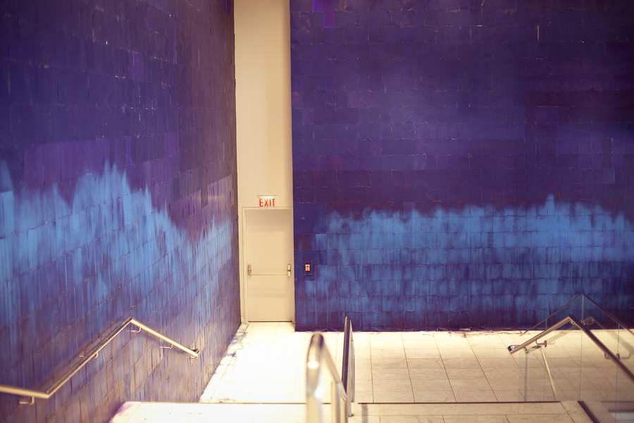 The Blue Wall at the Hammer Museum.