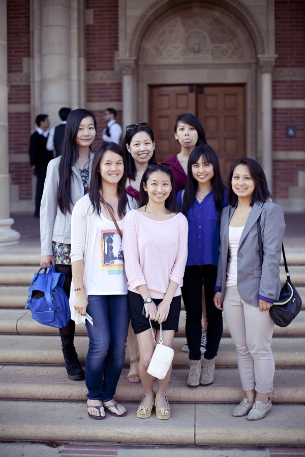 Group photo in front of Royce Hall, UCLA.