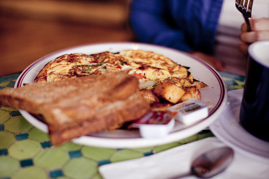 Omelette at Novel Cafe in Westwood, Los Angeles.