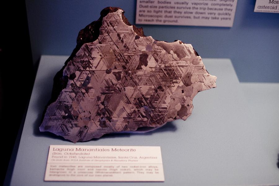 Laguna Manantiales Meteorite at the Natural History Museum in Los Angeles.