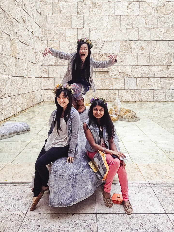Ren, Ssen, and Nam at the Getty Center.