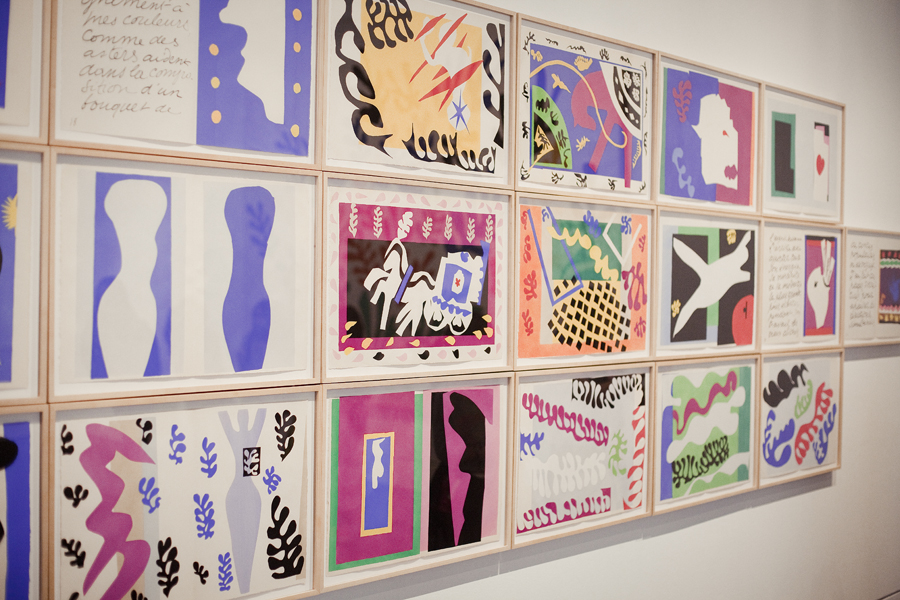Cut-outs at Henri Matisse: La Gerbe in LACMA.