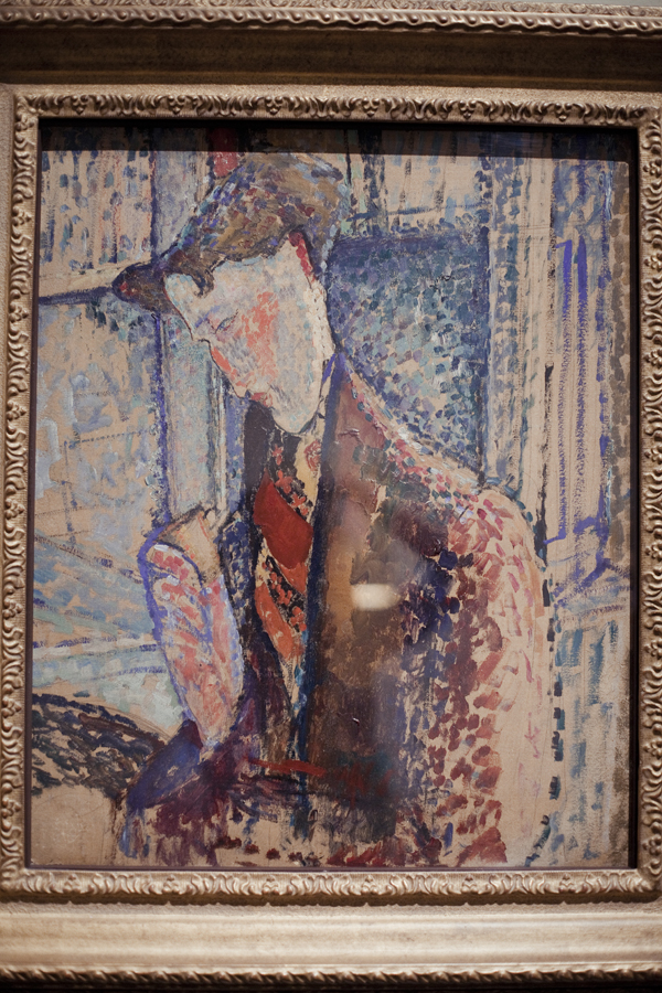 Reverie (Study for the Portrait of Frank Burty Haviland) by Amedeo Modigliani at LACMA.