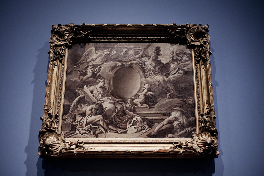Project for a Cartouche: An Allegory of Minerva, Fame, History, and Faith Overcoming Ignorance and Time by François Boucher at LACMA.