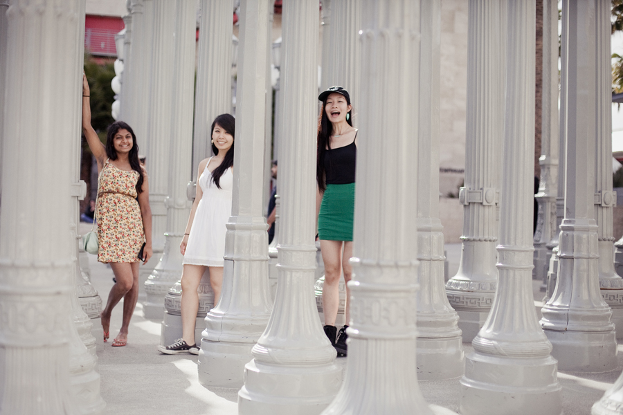 Photoshoot at the lamposts at LACMA, Los Angeles.