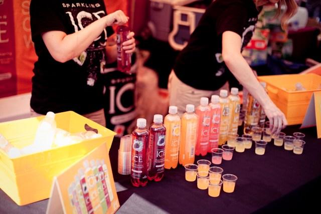 Free juice samples at Make Music Pasadena.