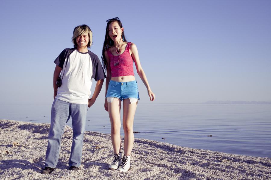 Shamis and Ren at the Salton Sea.