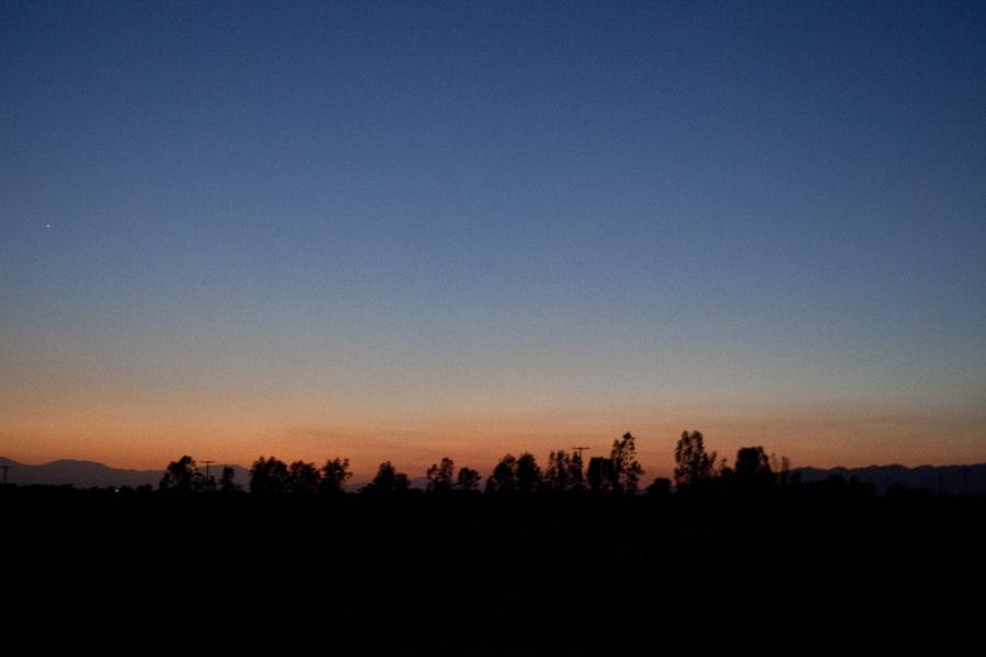 Night sky in the desert.