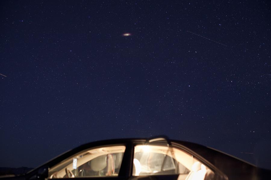 Night sky at Salton Sea.
