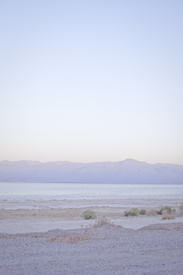 Sunrise at the Salton Sea.
