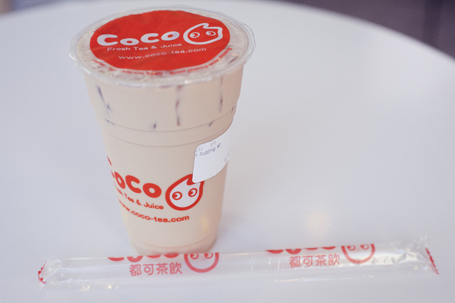 Milk Tea with pudding at CoCo at Sawtelle, Los Angeles.