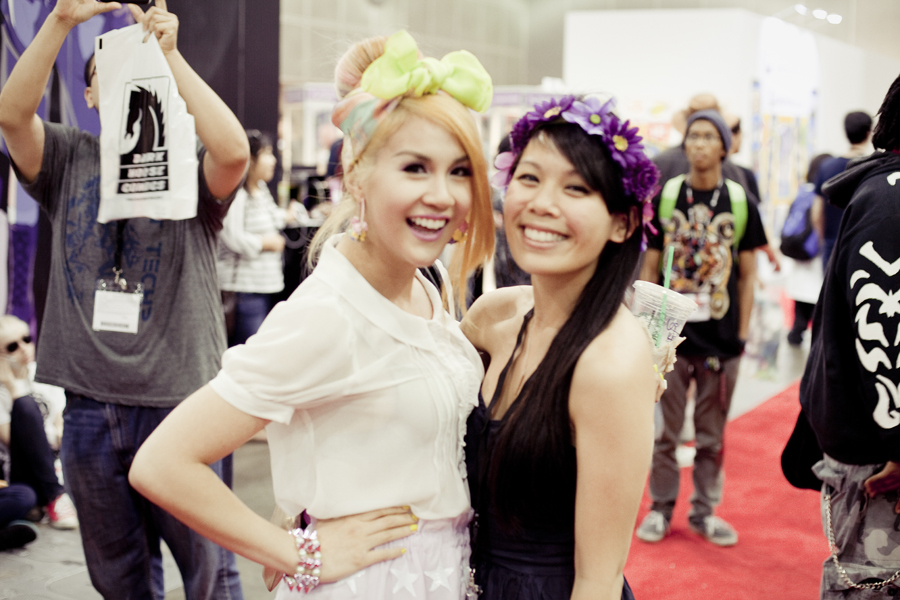 Lilli and friend at Anime Expo 2013.